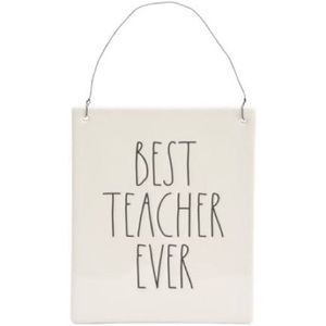 New Rae Dunn Best Teacher Ever wall plaque
